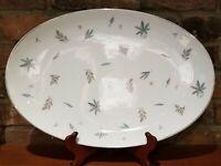 "Noritake 16-1/4"" oval platter, Automne leaf pattern, MCM Vintage, EUC, Japan"