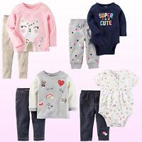 New Carter's Baby Girls 2-pc. Bodysuit or Shirt With Leggings Set
