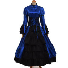 Gothic Reenactment Cosutme Dress Vintage Victorian Ball Gown 4 Colors
