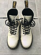 Dr Martens Pascal Glitter Womens 8-Eyelet Boots White Purple Size 4/37 RRP £120