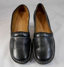 Naturalizer STOYER-2 Womens Clogs Size 9 M Leather Slip On Walking Wedge Black