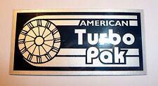 ATP AMERICAN TURBO PAK BRIGHT SILVER FOIL DECAL BADGE RAJAY Z1R TC Z1 DRAG