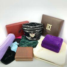 12 x Modern & Vintage Jewellery Boxes & Pouches Guess & Maze Etc