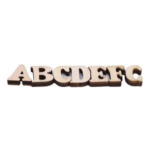 100Pcs Wooden Alphabet Letter A-Z Mixed Number 3D Scrapbooking Cards Decor