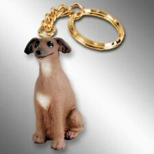 Italian Greyhound Dog Tiny One Resin Keychain Key Chain Ring