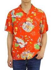 Polo Ralph Lauren Short Sleeve Floral Aloha Hawaiian Shirt -- Asian Scene