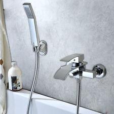 Wasserfall Wannenarmatur Badwanne Wasserhahn Duscharmatur+Handbrause Duschset DE