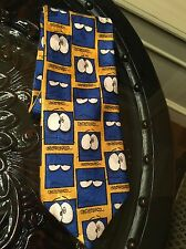 Underpaid Emoji Neck Tie  cartoon Work Job Marks & Spencer Blue
