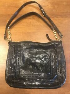 Campomaggi studded Leather Bag Black TEODORANO