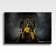 """BREAKING BAD GAME OF THRONES CANVAS Heisenberg Wall Art Poster 30""""x20"""" CANVAS"""