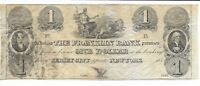 182_ $1 Jersey City Franklin Bank Opposite NY Currency Note Chariot with Lions