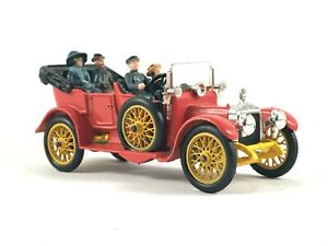 🚗 Vintage Red CORGI CLASSICS No. 9021 Original 1910 DAIMLER 38hp Chauffeur & Co