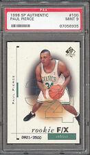Paul Pierce Celtics Wizards 1998 SP Authentic #100 Rookie Card rC PSA 9 Mint QTY