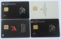 Greece Intercontinental  Hotel Lot 4 Different Hotel Room Key Cards