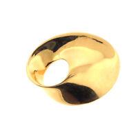 "Vintage Monet Modernist Gold Plated Brooch Pin 2.5"""