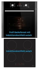 Einbau Herdset Backofen + Induktion Ceran Kochfeld autark Backofenset Profiset