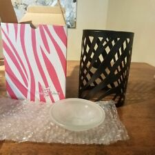Pink Zebra Metal Zebra Print Scent Warmer Shade Retired Style Home Decor