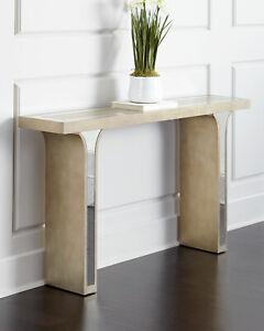 "Horchow Haute House Sofa Console Table Buffet French Modern Art Deco Coastal 60"""