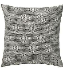 (2) IKEA Nattljus Pillow Shams Covers Geometric Mod Op Art Optical Illusion NEW
