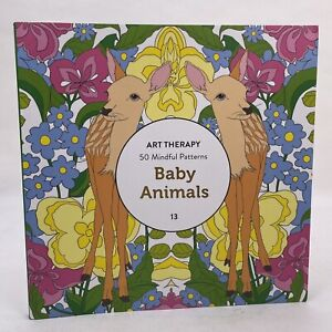 Art Therapy Colouring Book - Baby Animals #13 - 50 Mindful Patterns - New