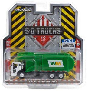 1:64 GreenLight *SD TRUCKS 12* WASTE MANAGEMENT Mack Refuse Garbage Truck *NIP*