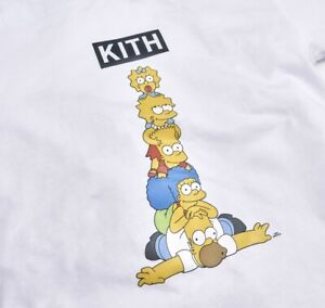 """NEW- KITH x the Simpsons """"Family Stack"""" Tshirt Tee White 