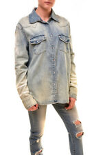 One Teaspoon Women's Authentic Western Shirt Blue Size S RRP $158 BCF85