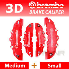 4pcs Red 3D Disc Brake Caliper Covers Kit For Mercedes-Benz #16-18 inch wheels