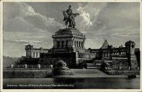 Koblenz AK 1936 Kaiser Wilhelm Denkmal Deutsches Eck Monument gelaufen frankiert