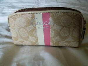 Coach Monogram Small Zip Makeup Bag/Pouch