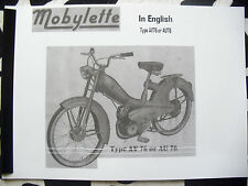 Mobylette/Moped/ AV76 / In English/ Parts Book With Full Exploded Diagrams
