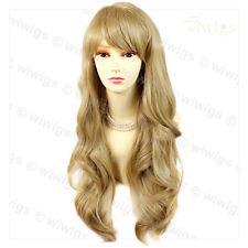 Wiwigs Beautiful Golden Blonde Long Layered Way Skin Top Ladies Wig