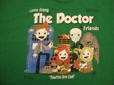 Come Along w The Doctor & Friends time lord records who sci fi bbc T shirt 2XL