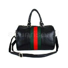 Korean  Women Red Green Stripe Tote Messenger Cross Body Handbags Shoulder  Bag