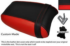 BLACK & BRIGHT RED CUSTOM FITS TRIUMPH THUNDERBIRD 1700 1600 REAR SEAT COVER