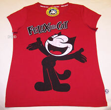 Felix The Cat Ladies Red Short Sleeve Printed T Shirt Size XS New
