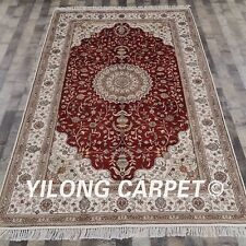 YILONG 5'x8' Hand Knotted Persian Turkish Silk Rug Oriental Floor Carpet Y292C