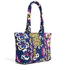 Vera Bradley Mandy Bag African Violet Purple Blue White Zip Top 6 Inside Pockets