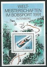 Weltmeisterschaften im Bobsport, Altenberg 1991 postfrisch Block 23 Mi. 1496