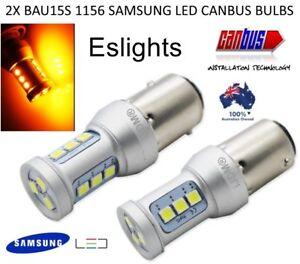 2X 12V 2018 BAU15S LED AMBER INDICATOR TURN SIGNAL LIGHT BULB GLOBE BMW MINI VW