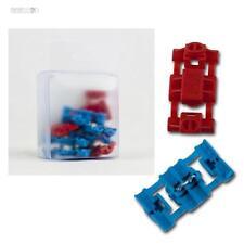 10 Connettore intermedio morsetti Ladri potere cavo Giapponese blu & rosso