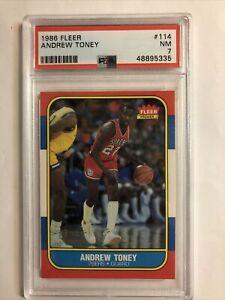 1986-87 FLEER Basketball Andrew Toney #114 PSA 7 NM New Cert Nice
