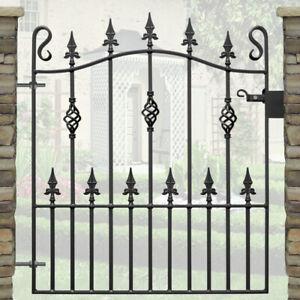 Metal Garden Gate | Wrought Iron Steel Gates | Bow Spear Head Gate | 3ft Opening