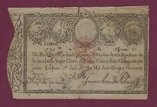 Portugal Imperial Treasury  5000 Reis 1826 - old date 1799 P-25 RARE