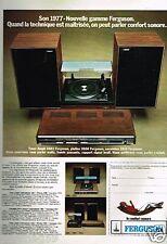 Publicité Advertising 1976 Chaine Hi Fi Ferguson