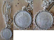 Münz Charivari Halskette Silber Trachtenschmuck