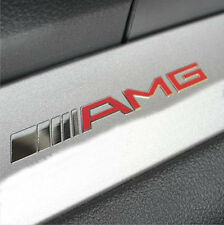 High Quality Red & Silver AMG Sport Badge Decal Emblems Logo Sticker All Type