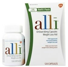 alli Diet Pills for Weight Loss, Orlistat Refill Pack 120 Capsules Exp 2021 New