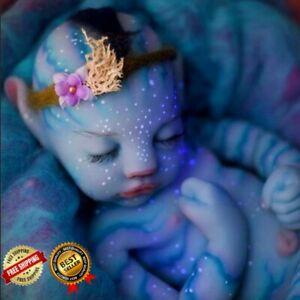 Reborn Baby Avatar Doll Newborn Silicone 20 Full Body Vinyl Sleeping Toddler Toy