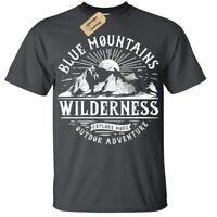 Blue Mountain Outdoor Adventure T-Shirt hiking climbing tee Mens